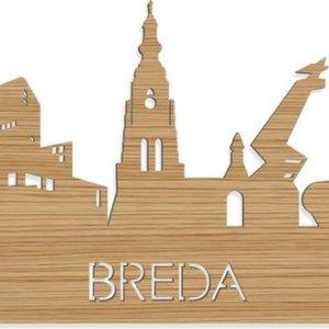 Skyline Breda Bamboe hout - 80 cm - Woondecoratie design - Wanddecoratie met LED verlichting