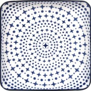 Gusta Schaal vierkant Stars 12,5 x 12,5cm - Out of the Blue - set 6 stuks