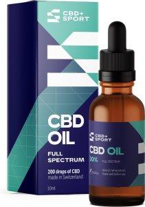 CBD+SPORT CBD Olie 10% - Full spectrum - 100% natuurlijk