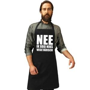Barbecueschort Niks vegetarisch zwart heren