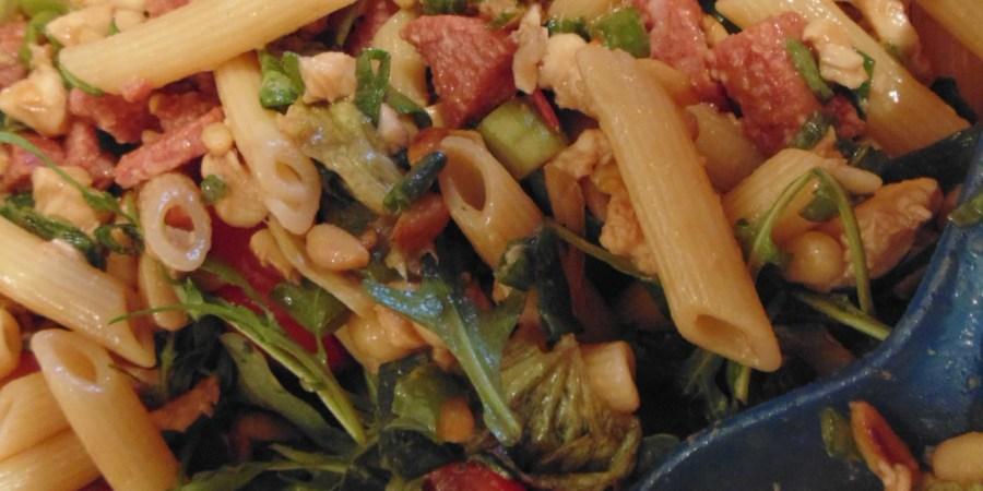 pastasalade van mijn moeder recept 4 personen