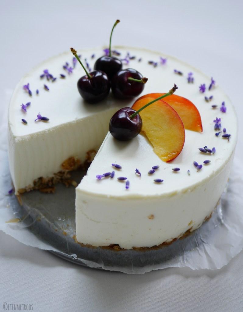kwarktaart met lavendel