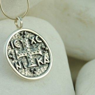 Byzantine Coin Christogram ICXC Pendant by A.LeONDARAKIS