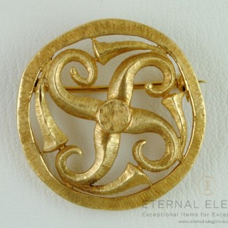 ilias LALAoUNIS Solid 18K Yellow Gold Brooch