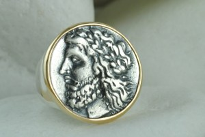 God Zeus Coin Ring