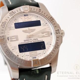 Breitling Aerospace Evo E79363 Stratus Silver 30th Anniversary Ltd Ed.