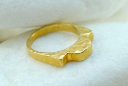 Handmade Gold Hammered Ring