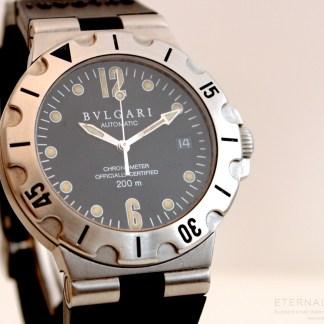Bvlgari Diagono Scuba Steel COSC Automatic Mens Watch SD38S