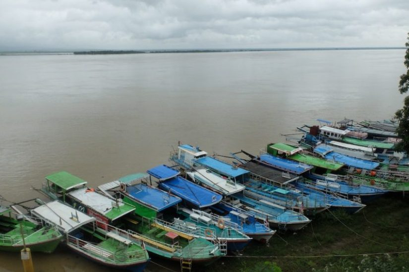 The Irrawaddy river, with its colorful boats, runs through Bagan, an important lifeblood.