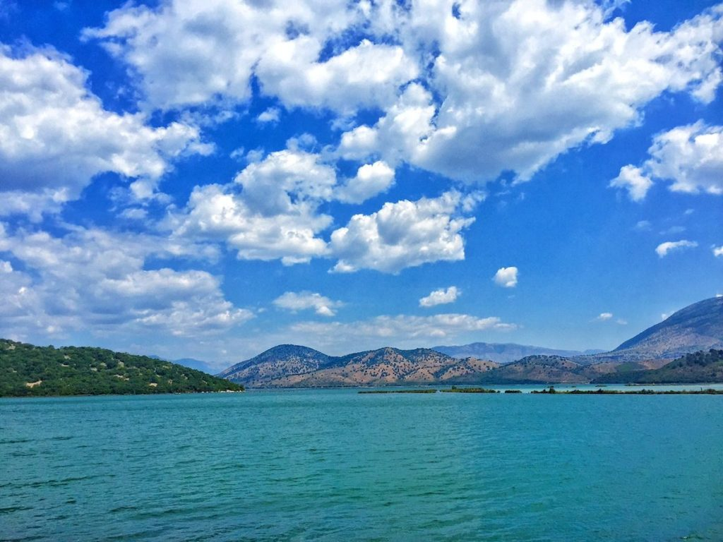 blue lake in butrint albania