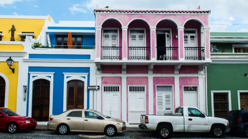 the colorful buildings of old san juan in a rainbow of colors