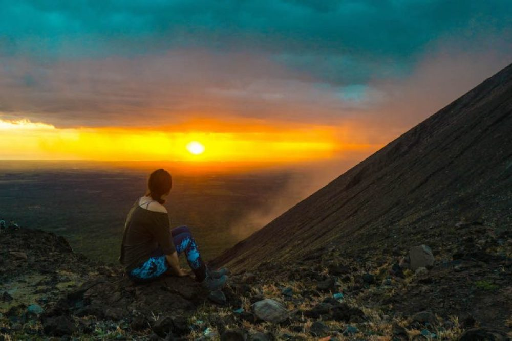 Sleeping atop Telica - one of the best things to do in Nicaragua