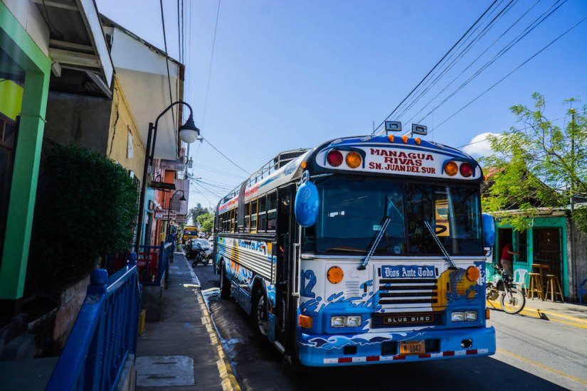 The humble chicken bus, the real Nicaraguan experience