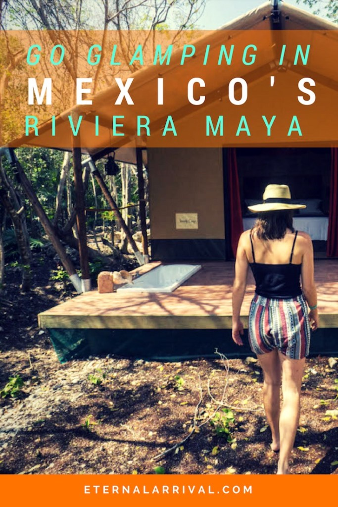 How does glamping in an enormous boho chic tent in the Riviera Maya sound? Find out my top pick for luxury camping in the Yucatan, Mexico!