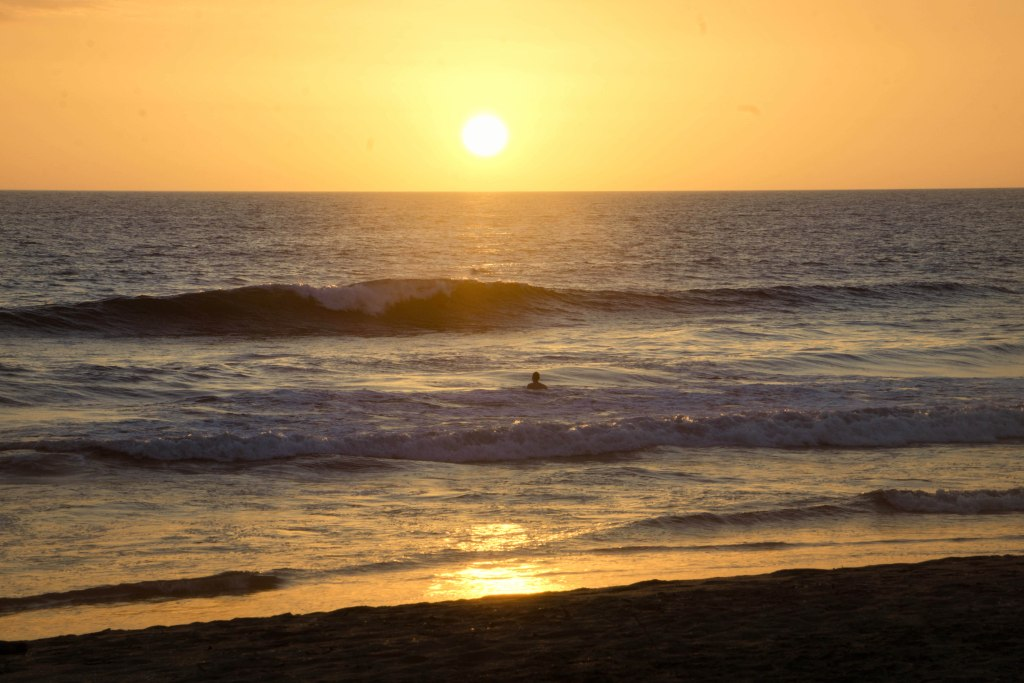 Seeing a pacific sunset, one of the simplest yet best things to do in Nicaragua