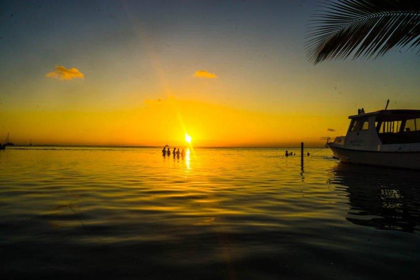 A sunset on Caye Caulker