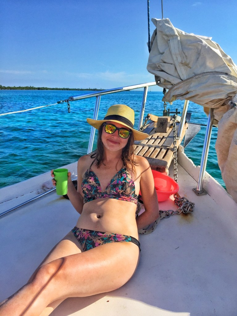 On a snorkeling tour in Belize