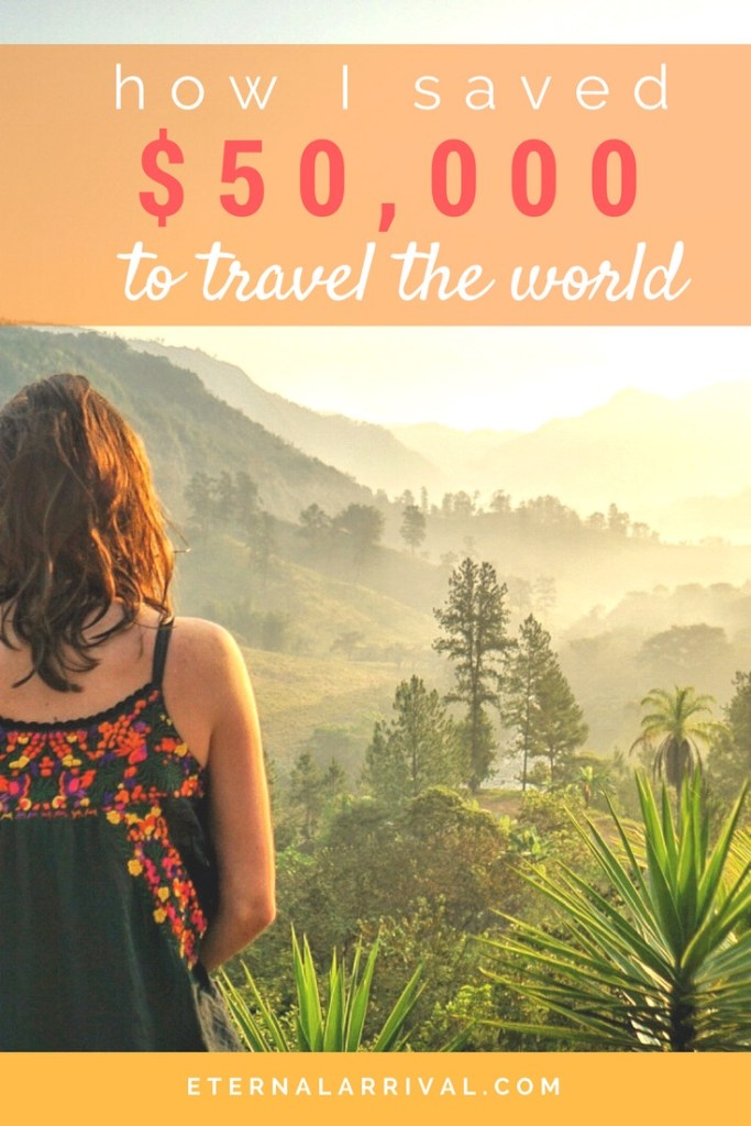 Tips and budget ideas for how I managed to save $50,000 to travel the world full-time and live a life of constant adventure!