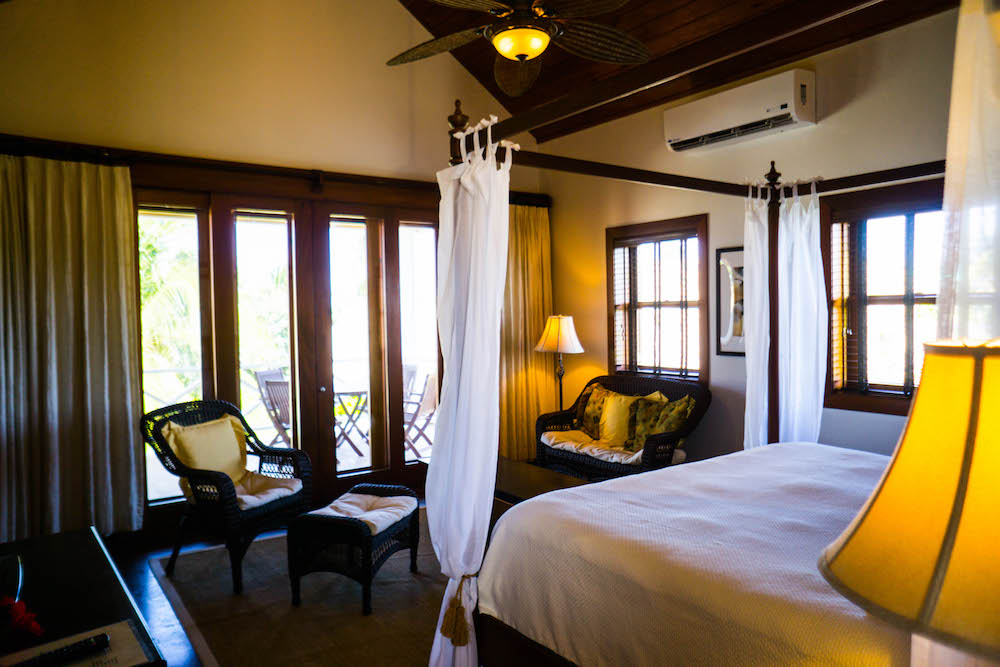 Luxury hotel in Belize master suite