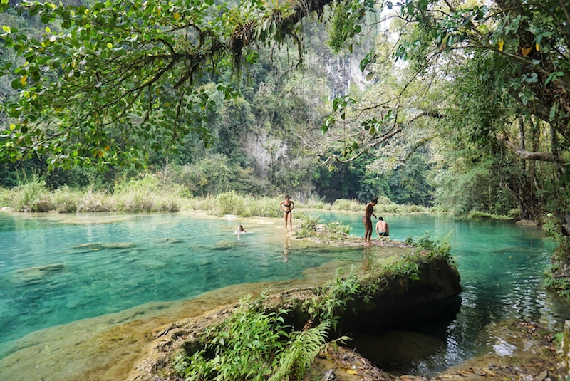 One of the best things to do in Guatemala - Semuc Champey!