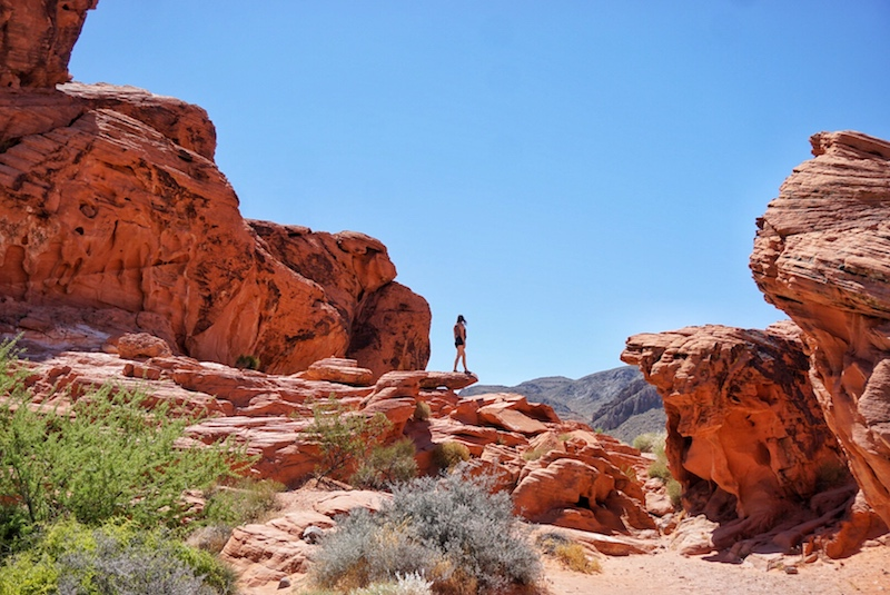 Allison standing in the Valley of Fire on a tour