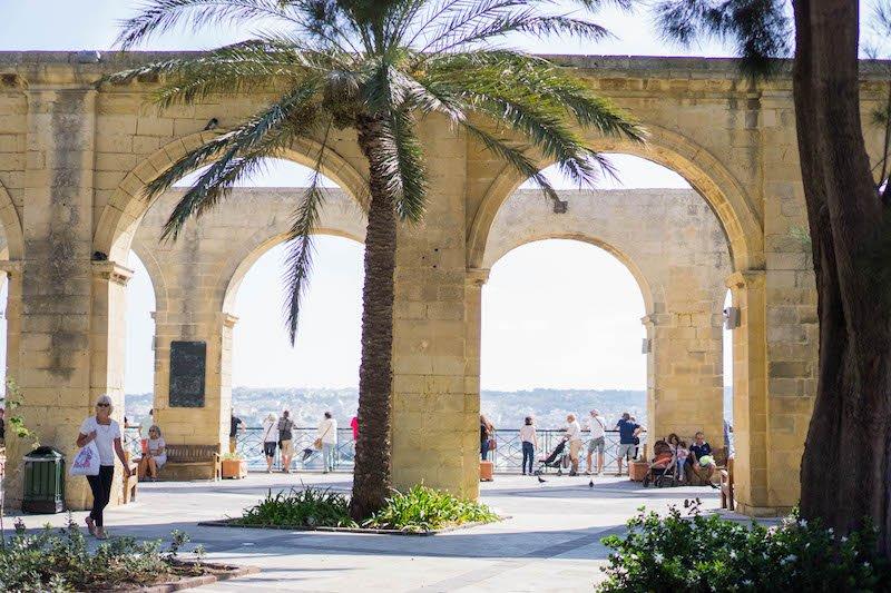 The arches of the Upper Barrakka Garden area