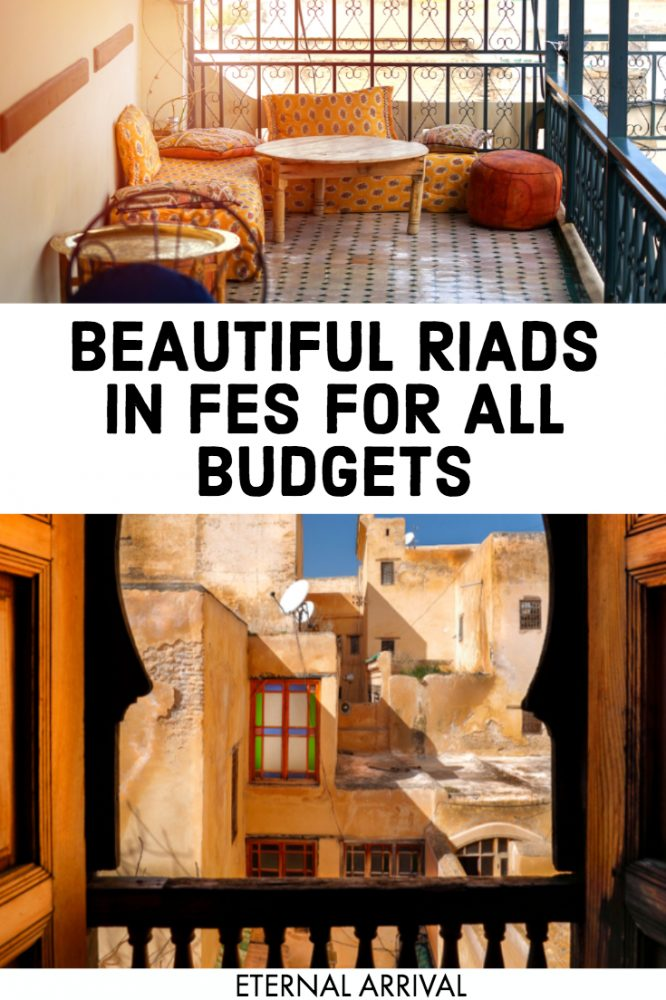 Wondering where to stay in Fes? These riads in Fes are some of the most beautiful Fes hotels. A Fes riad is like a small B&B with traditional Moroccan decor elements. These riads in the Fes medina are sure to inspire Instagram-worthy photos with their beauty, and they're some of the most Instagrammable places to visit in Fes!