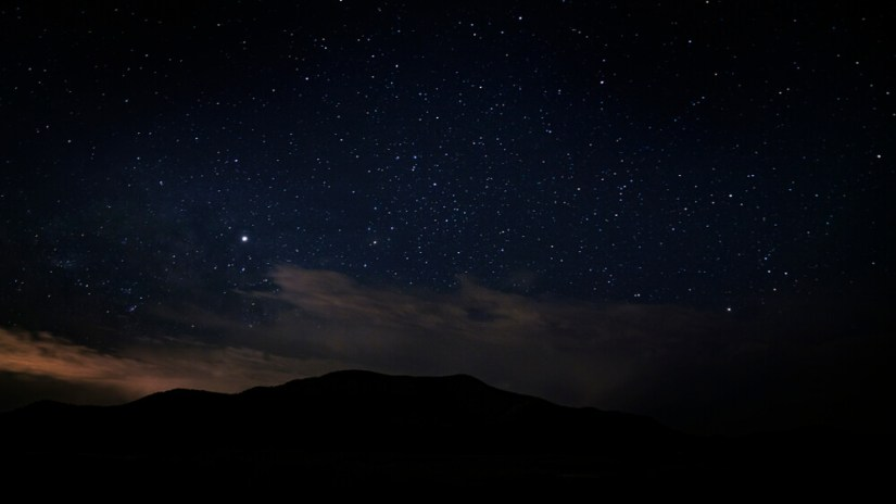 Utah night sky with lots of stars