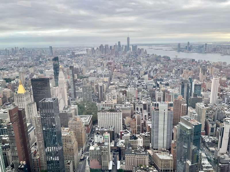 Views from the Empire State Building of Lower Manhattan