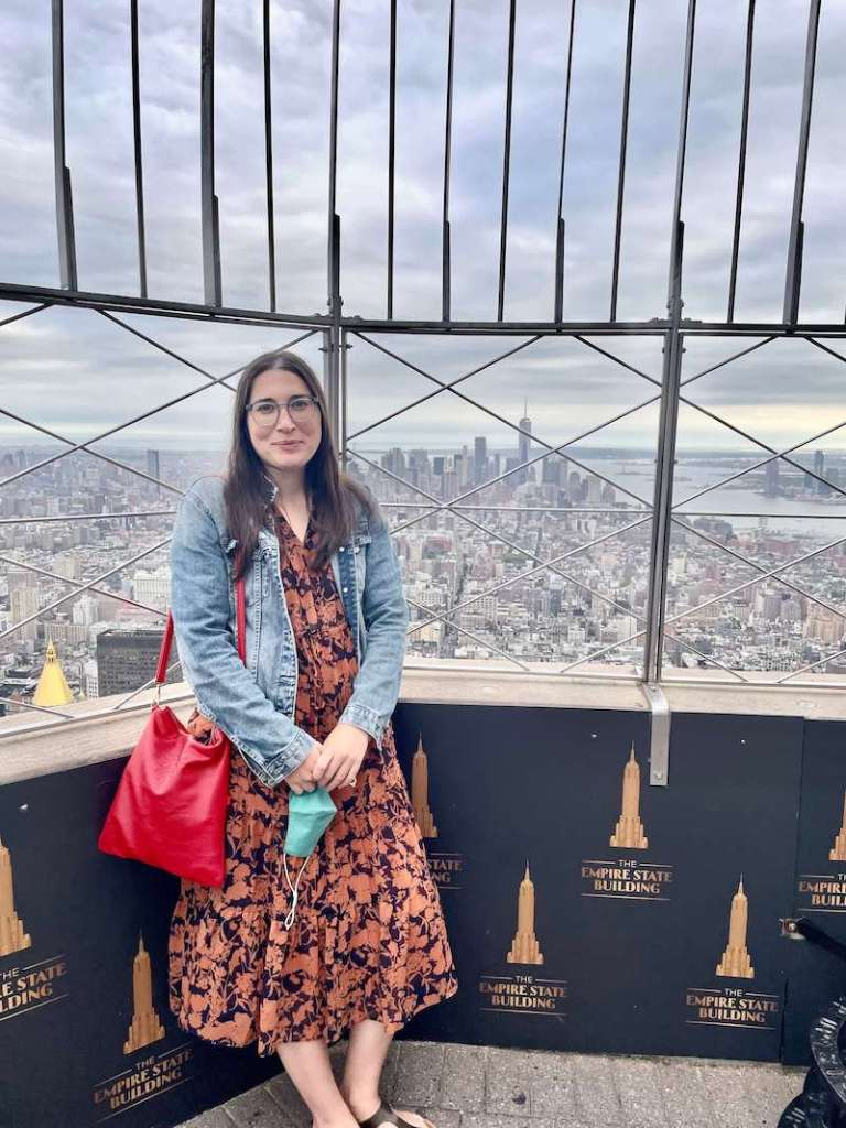 Allison Green at the Empire State Building