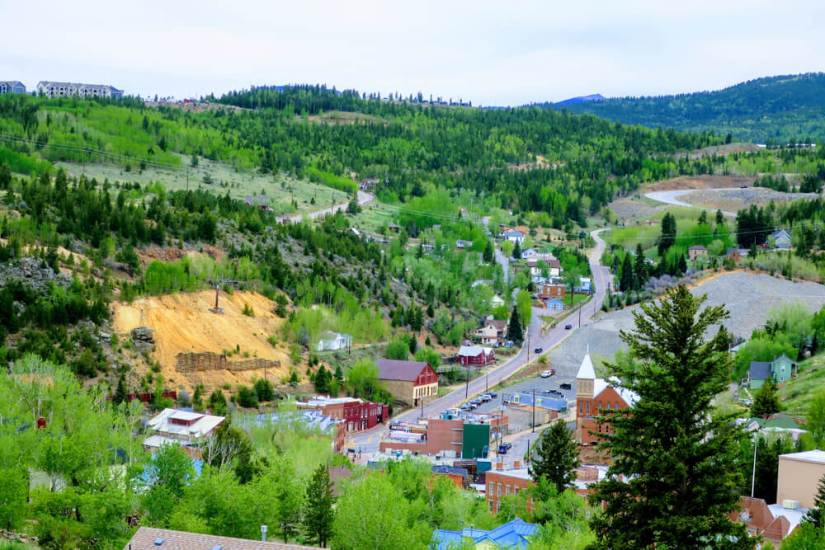 View from above Central City in Colorado, a fun town where gambling is allowed!