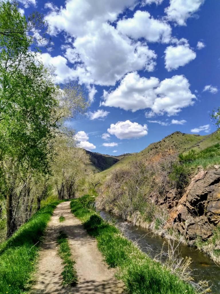 Path along Clear Creek in Golden Colorado
