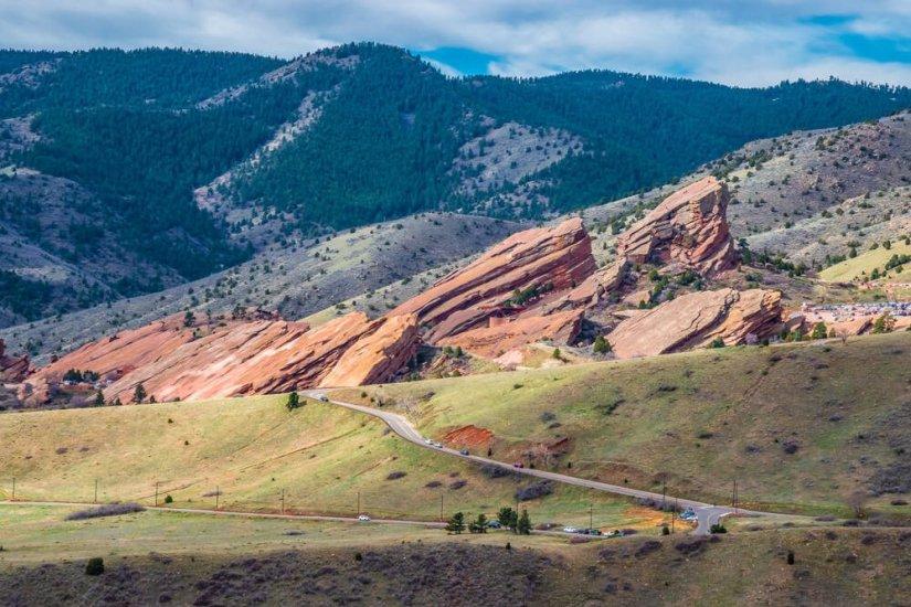 Beautiful Spring Hike at Dakota Ridge in Denver, Colorado, with red rocks amphitheater visible