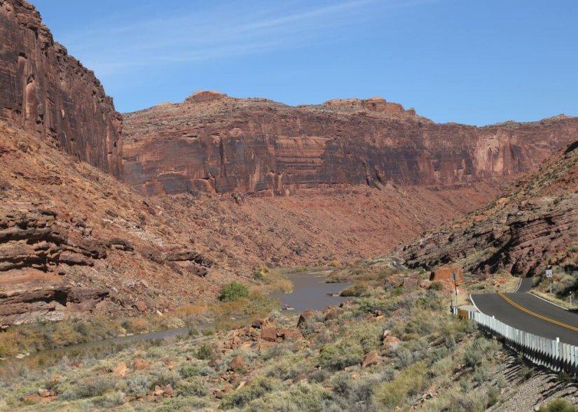 Colorado River along the southern border of Arches National Park, Dinosaur Diamond Prehistoric Highway, Utah