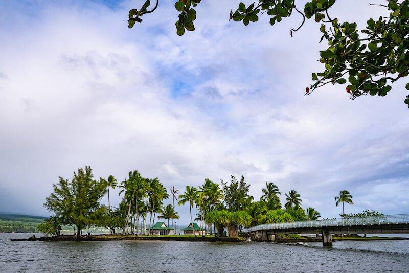 Road on Banyan Drive, Hilo, big island of Hawaii