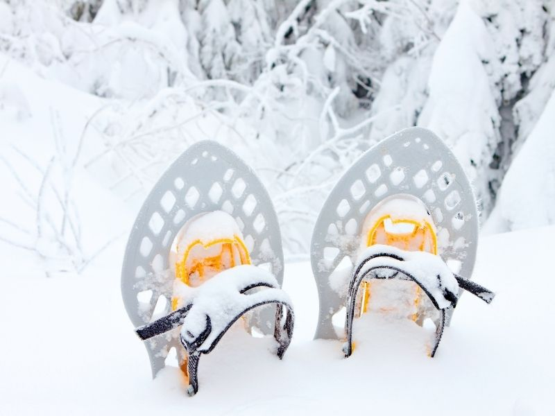 Snowshoes for hiking in Black Canyon of the Gunnison in winter