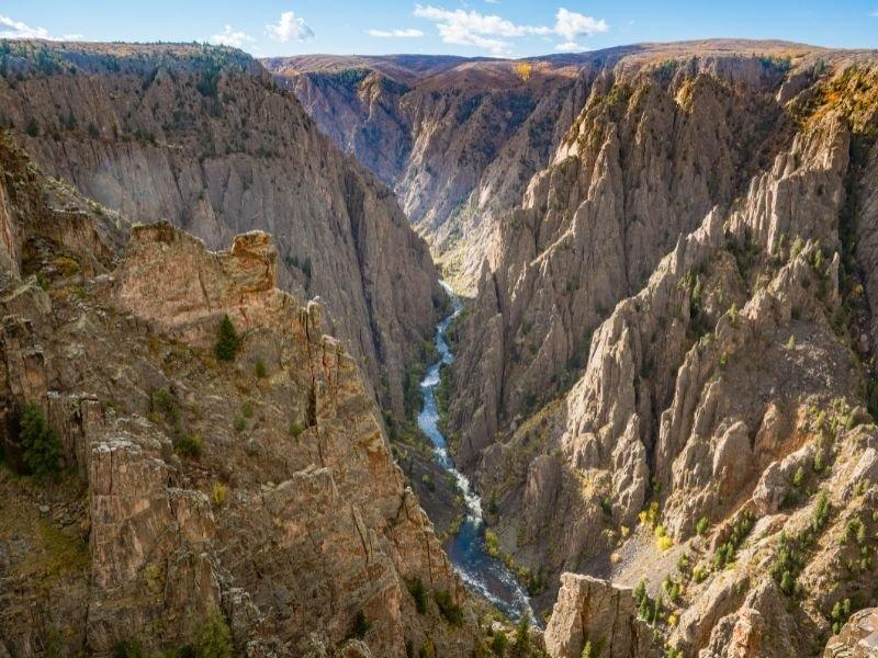 River winding through Black Canyon of the Gunnison
