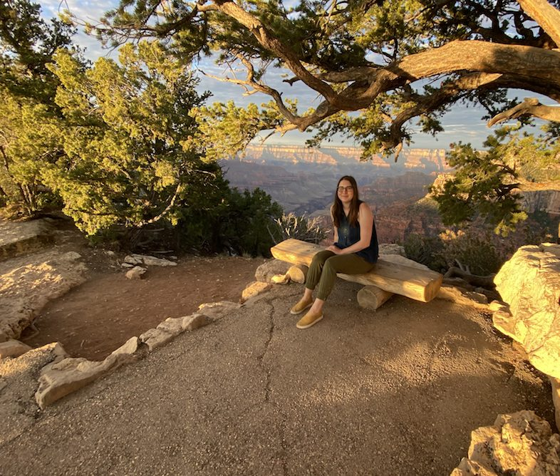At the North Rim of the Grand Canyon at sunrise in 2021