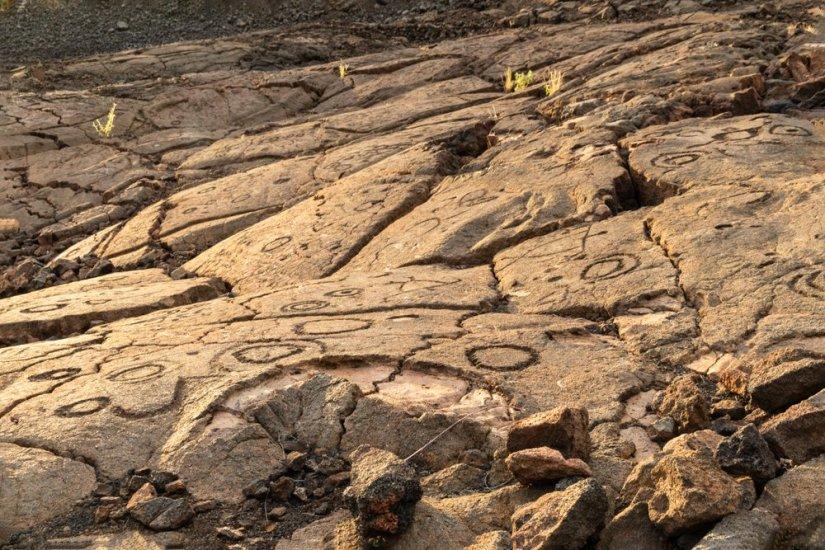 Petroglyphs in Waikoloa Field, on the King's Trail