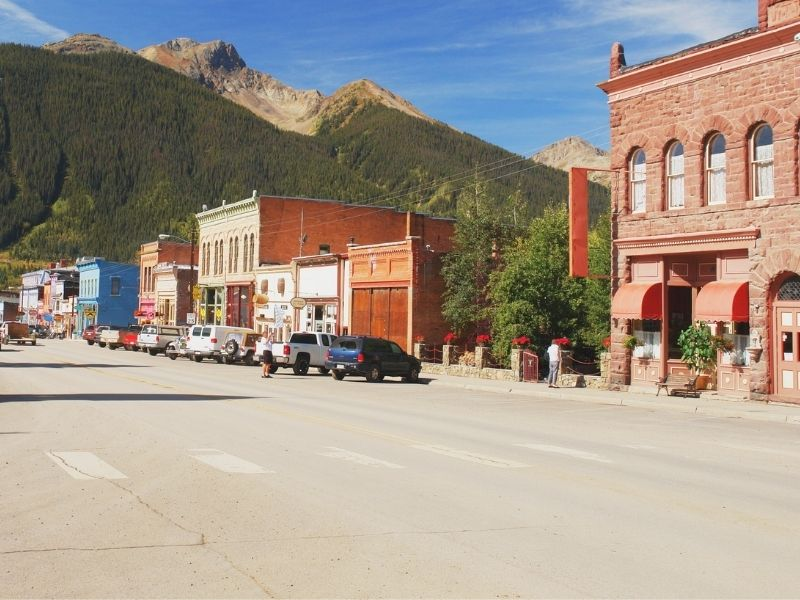 Old west style architecture on a main street in silverton colorado a beautiful colorado mountain town