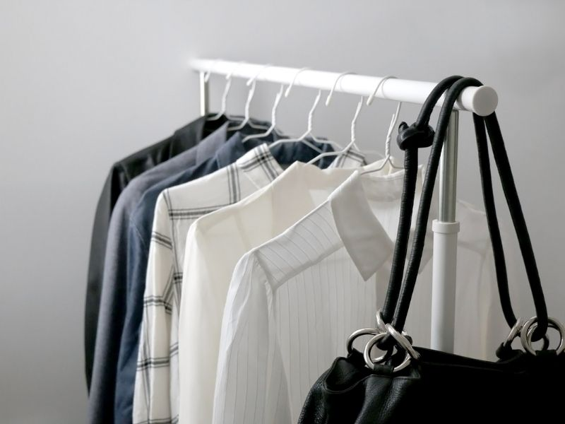 Capsule collection of five classic long sleeve shirts and black bag