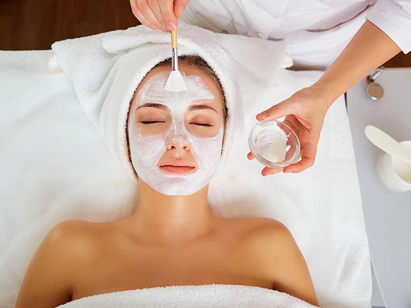 Woman Receiving Spa Facial