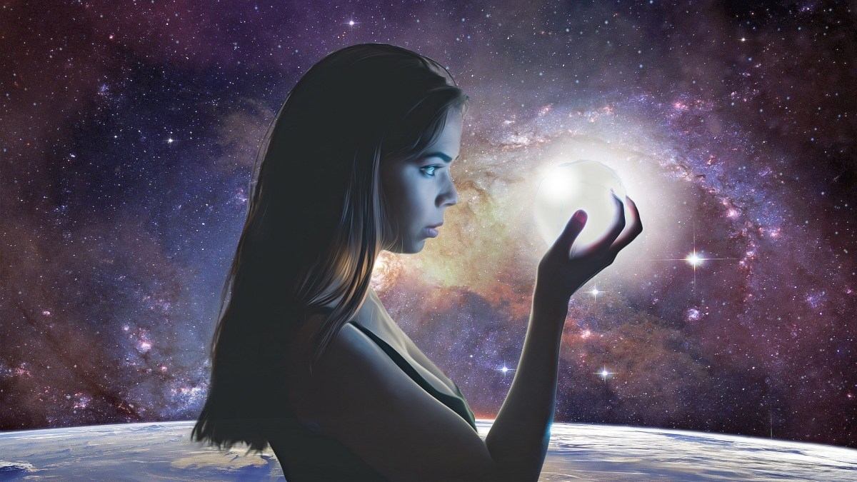 Woman Manifesting Inner Energy