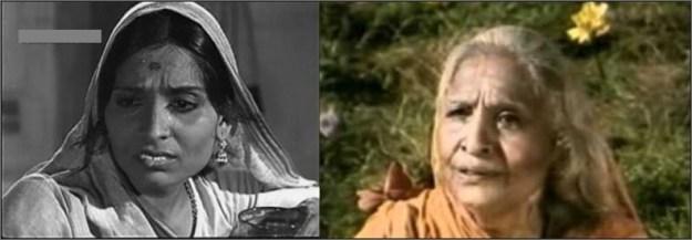 Saraita Devi in TaxiDriver (left) and as Sabri in Ramanand Sagar's Ramayana (right)