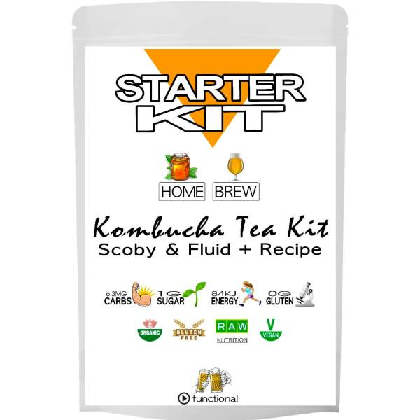 KOMBUCHA STARTER KIT. ETERNALDELIGHT.CO.NZ