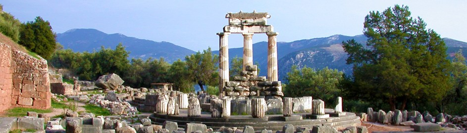 Temple of Athena at Delphi, a UNESCO World Heritage Site Eternal Greece Ltd