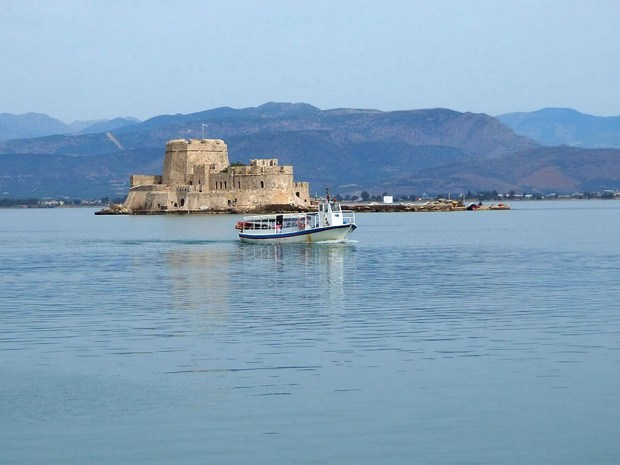 Nafplio Nauplio Bourtzi sea fortress Peloponnese Eric CB Cauchi Eternal Greece Ltd