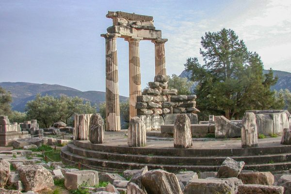 Ancient Delphi archaeological site Peloponnese Eric CB Cauchi Eternal Greece