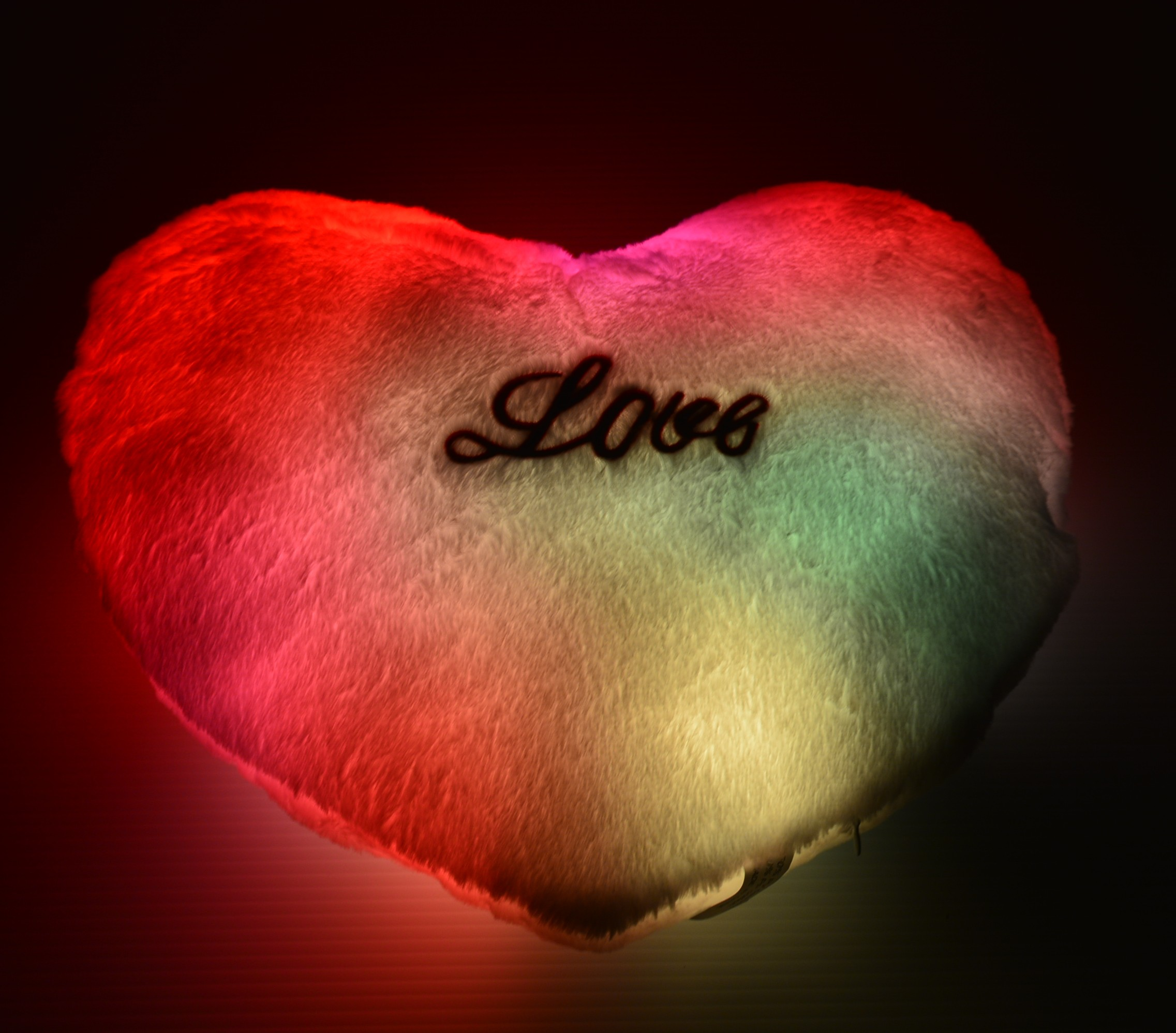 LED Light Up Heart Pillow  Eternity LED