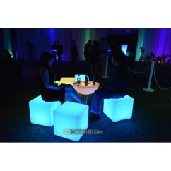 Led Table And Chairs Rolling Chair Accessories Cube Seat Light Up Glow Eternity
